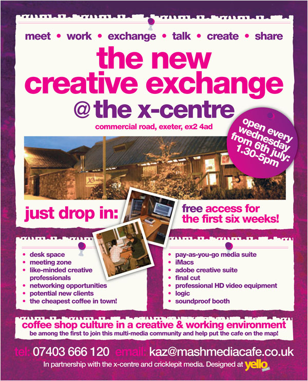 New creative exchange centre